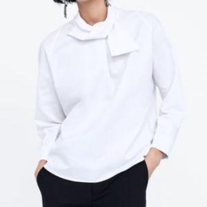 Zara Top with Bow Collar